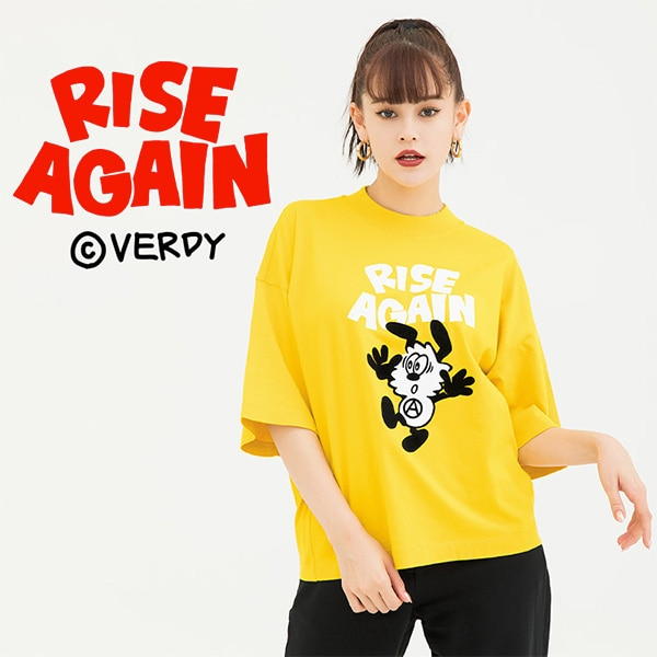 Rise Again by Verdy model image featuring Yellow T-shirt