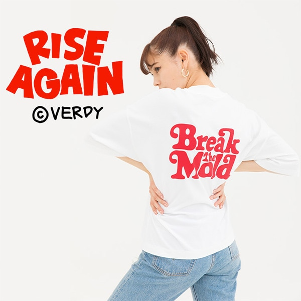 Rise Again by Verdy model image featuring White T-shirt