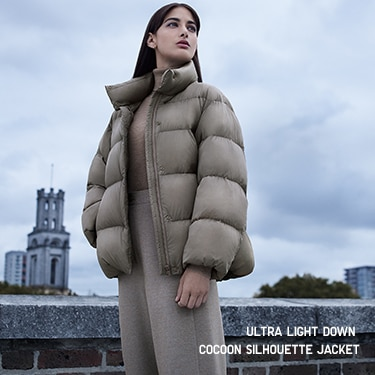 ultra light down cocoon silhouette jacket