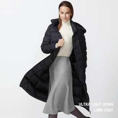 ultra light down long coat