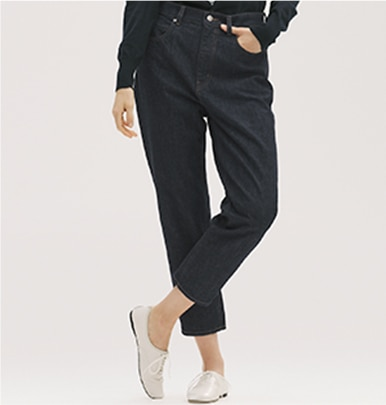 Slouch Tapered Ankle Jeans (Relaxed Fit)