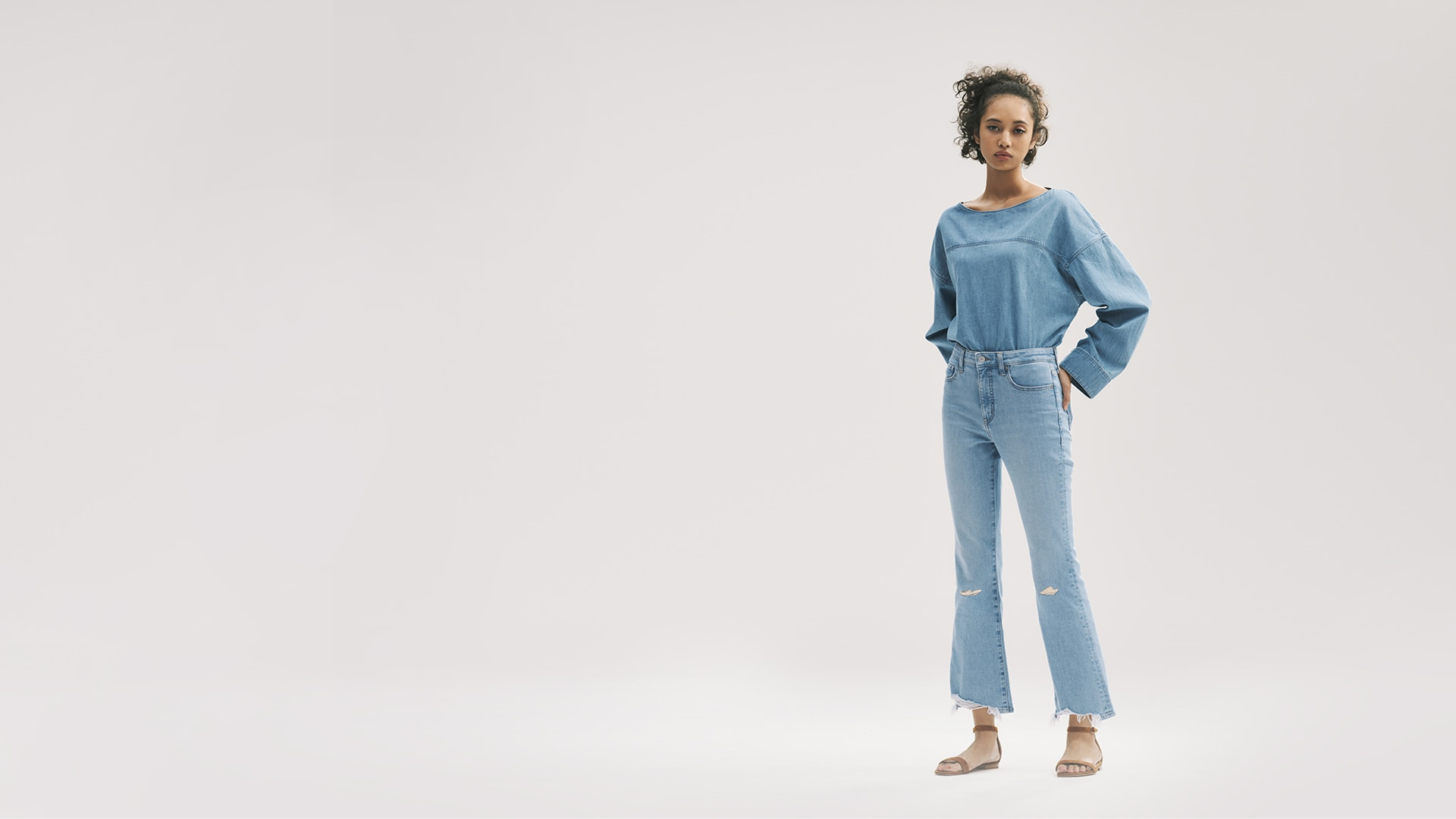 High Rise Skinny Flare Ankle Jeans