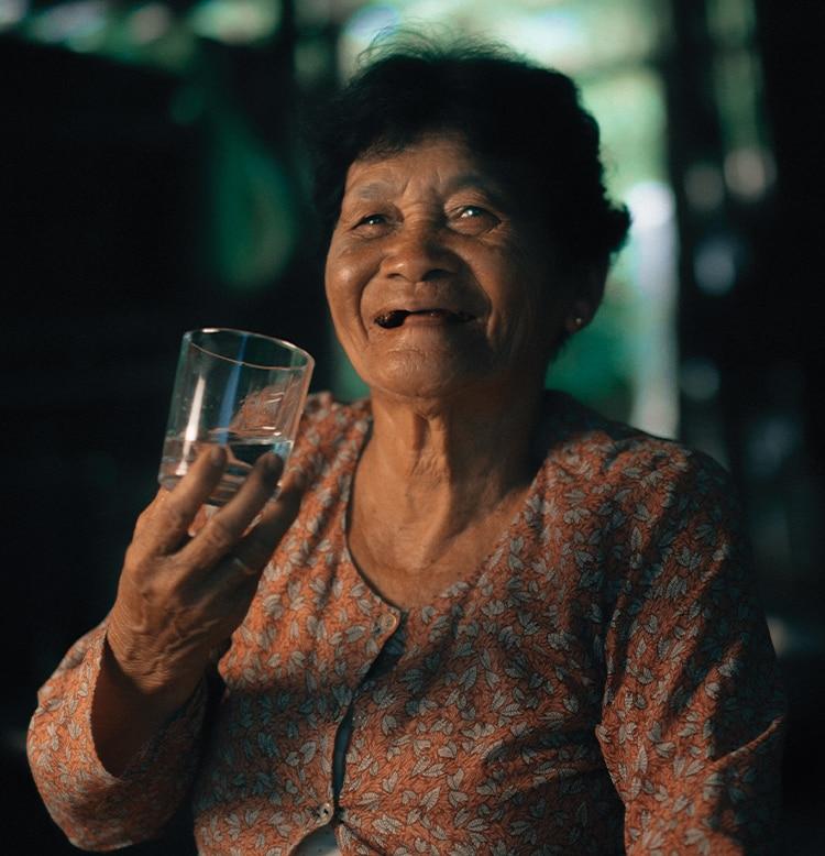 Charity Water - Enjoying a glass of water