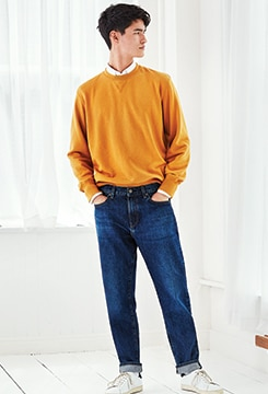 Regular-Fit Tapered Jeans image