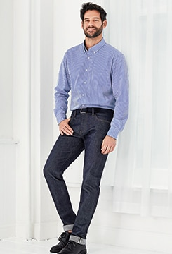 Stretch Selvedge Slim-Fit Jeans image