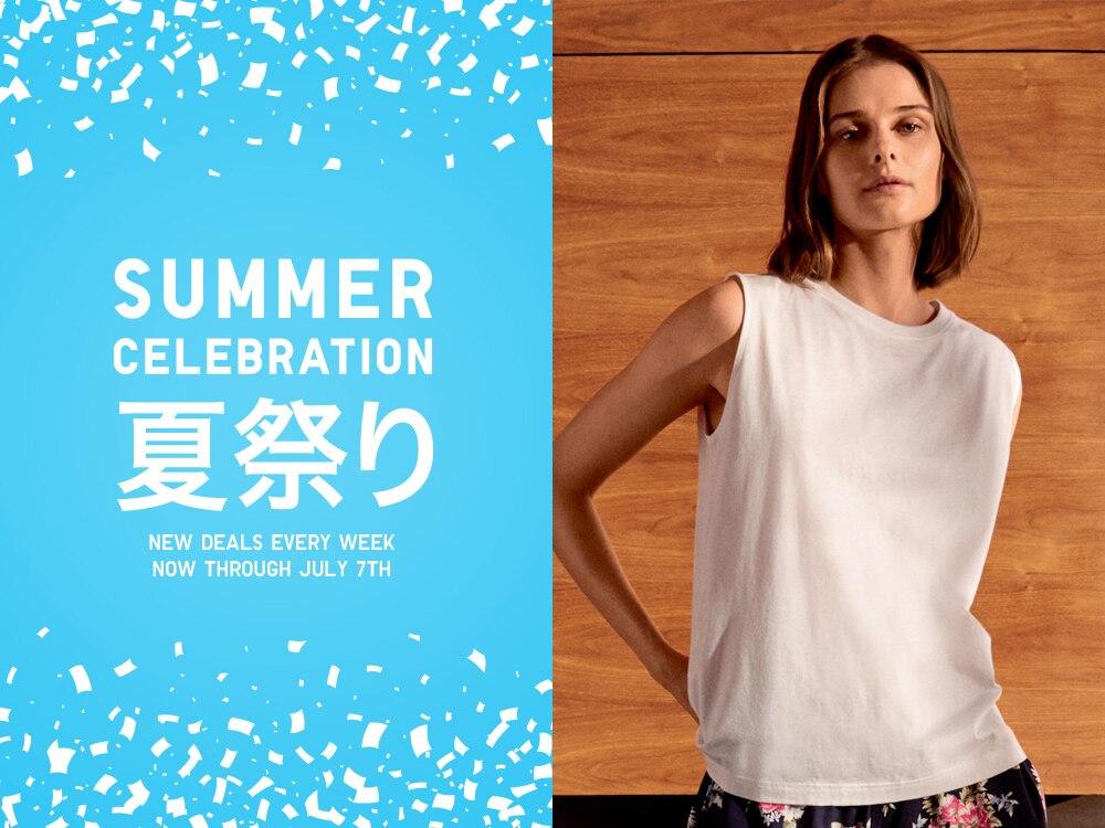 women mercerized cotton sleeveless t-shirt