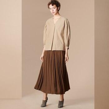 Gathered Long Skirt