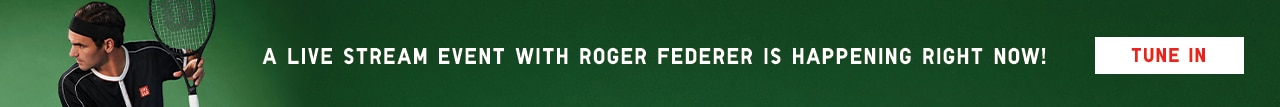 Roger Federer livestream is happening right now! Tune in