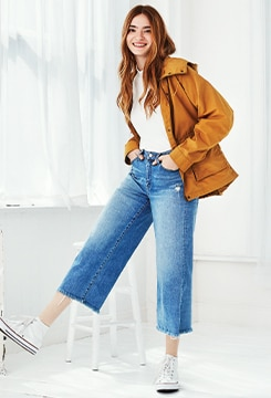 High-Rise Wide Cropped Jeans image