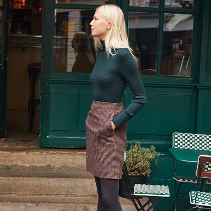 Wool-Blend Mini Skirt