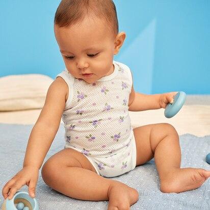 Baby Cotton Mesh Inner Bodysuits