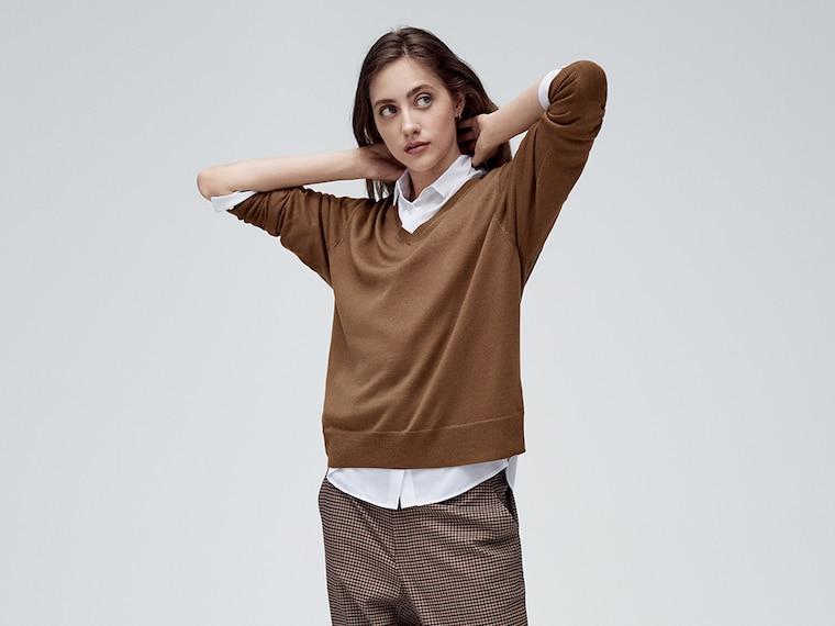 women crewneck + v-neck sweaters