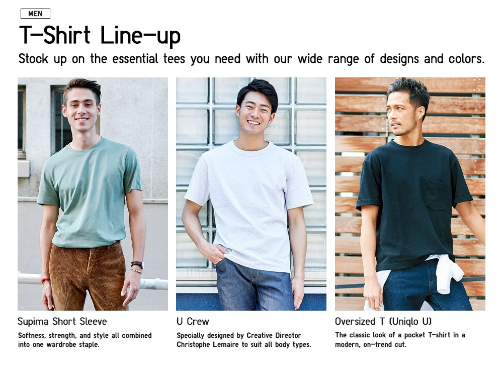 819b03fd0 Men's T-Shirts, Polo Shirts, Active Shirts & More | UNIQLO US