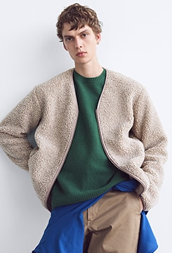 Pile-Lined Fleece Cardigan image
