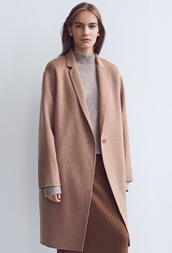 Double Face Cocoon Coat image