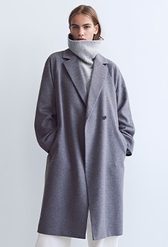 Wool-Blend Wrap Coat image