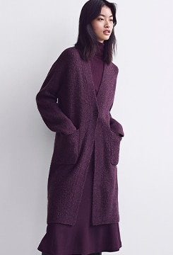 Tweed Knitted Coat image