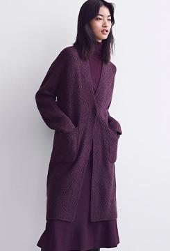 Tweed Knitted Coat image