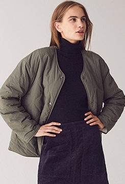 Pile-Lined Fleece Quilted Reversible Jacket image