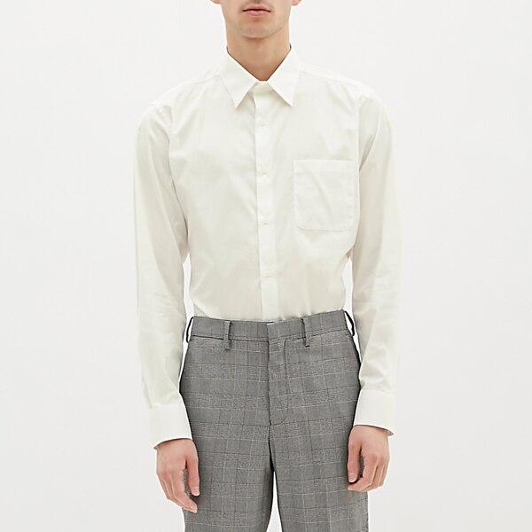 ストレッチブロードシャツ(長袖)CL-OFF WHITE