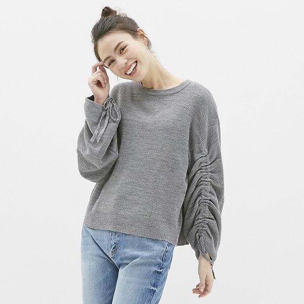 ドロストリングスリーブセーター(長袖)CL-GRAY