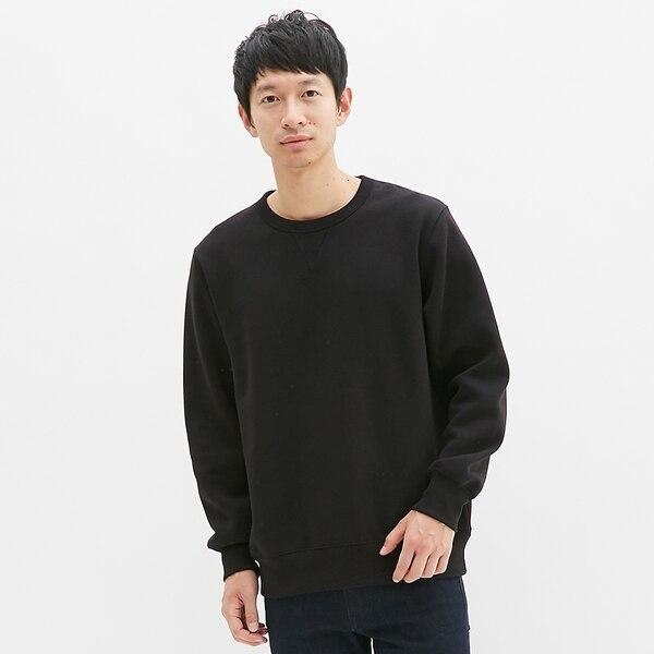 スウェットシャツ(長袖)-BLACK