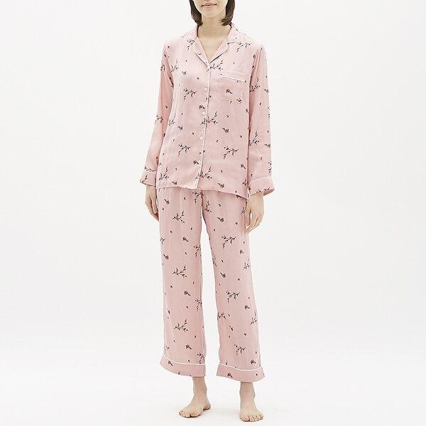パジャマ(長袖)(フラワー)-PINK