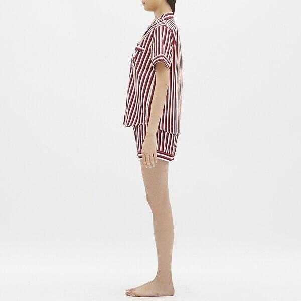 パジャマ(半袖&ショートパンツ)(ストライプ)ピーナッツ