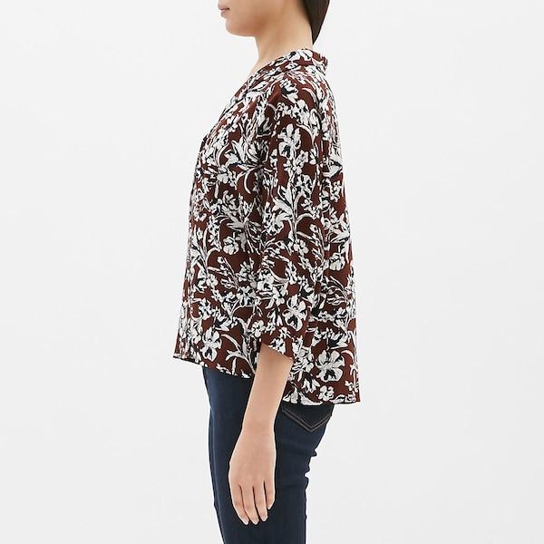 プリントオープンカラーシャツ(7分袖)SB