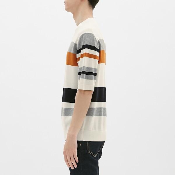 ボーダークルーネックセーター(半袖)CS
