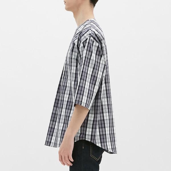 ビッグプルオーバーシャツ(7分袖)(チェック)CS
