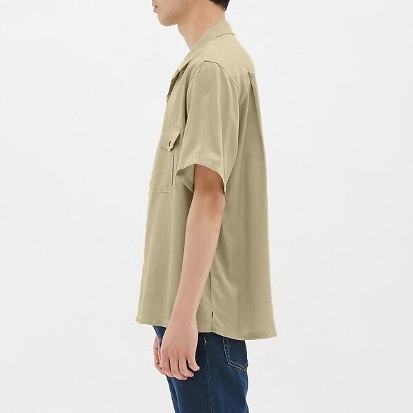 オープンカラービッグシャツ(半袖)JN