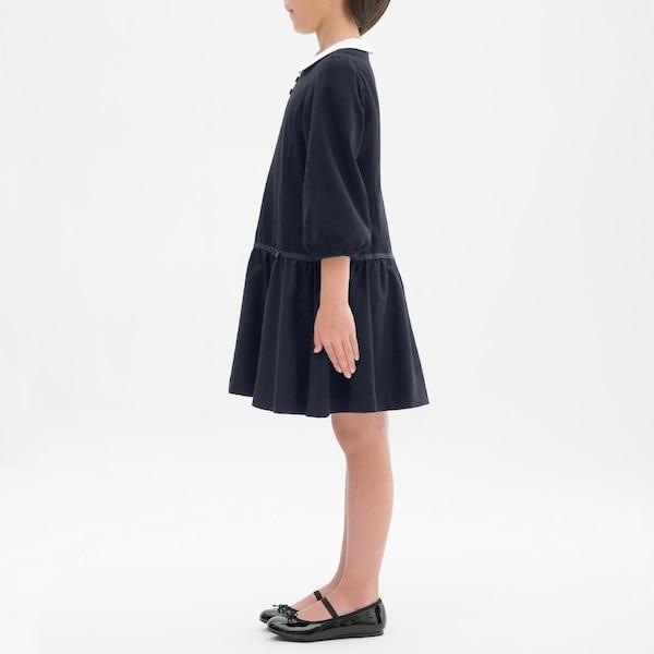 GIRLS襟付きワンピース(8分袖)CL