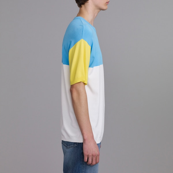 カラーブロックセーター(半袖)(KJ)