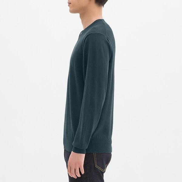 メリノブレンドVネックセーター(長袖)CL