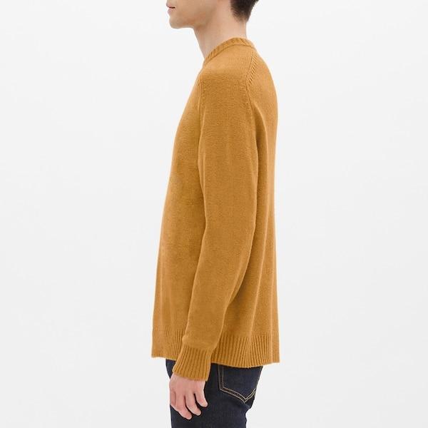 ラムブレンドクルーネックセーター(長袖)