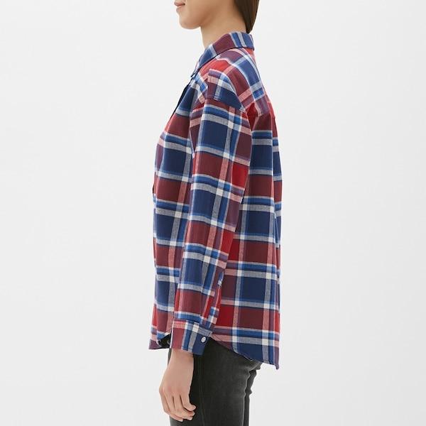 フランネルチェックシャツ(長袖)B