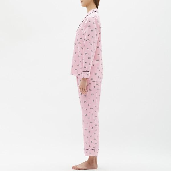 パジャマ(長袖)(サテン)(キャット)