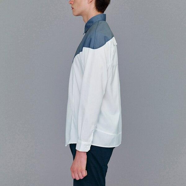 カラーブロックシャツ(長袖)(KJ)
