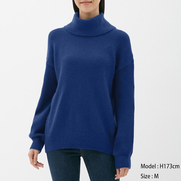 オーバーサイズタートルネックセーター(長袖)SC-BLUE
