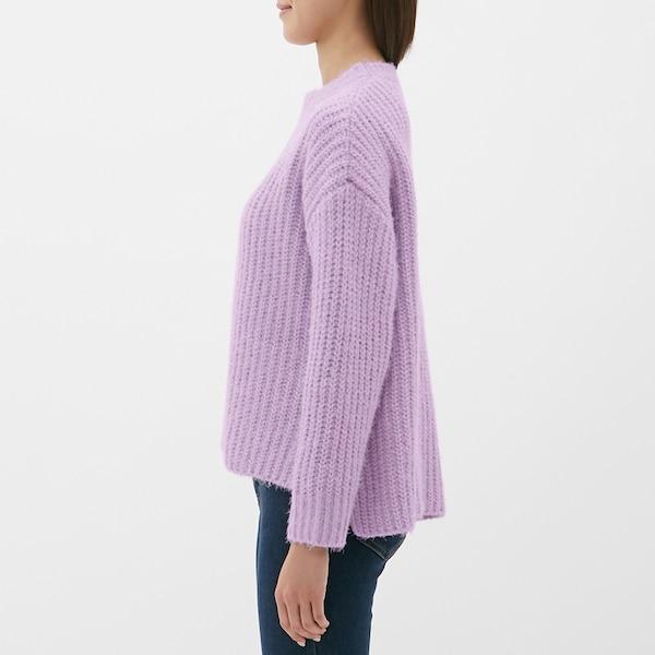モールフェザーヤーンオーバーサイズセーター(長袖)