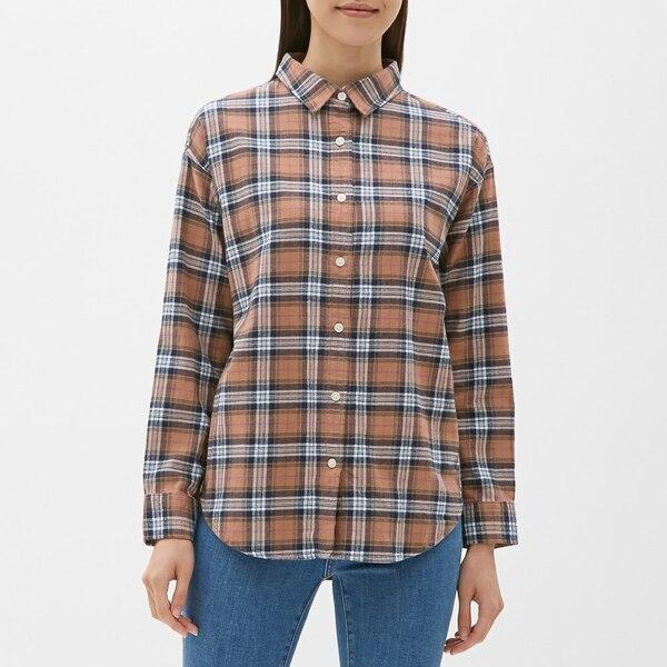 フランネルチェックシャツ(長袖)C-BROWN