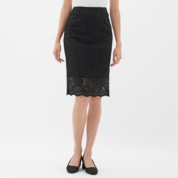 レースタイトスカート-BLACK