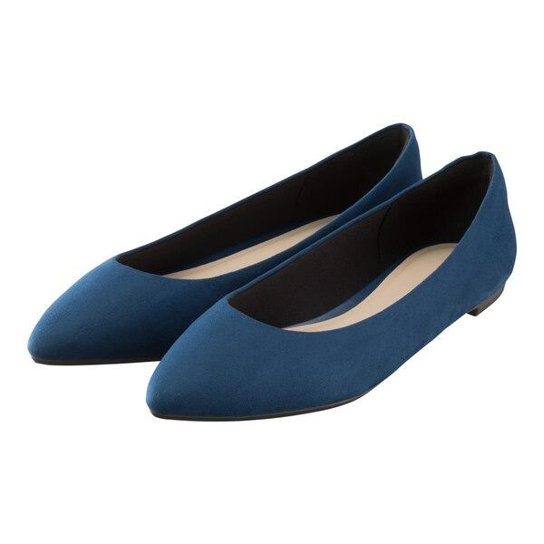 マシュマロポインテッドフラットシューズ(旧モデル)-BLUE
