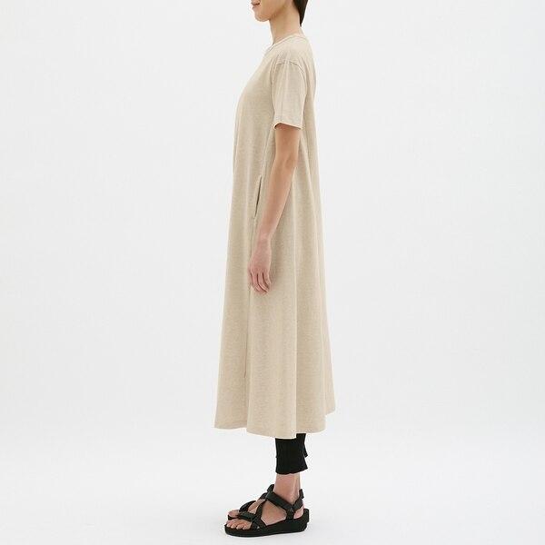 Aラインワンピース(半袖)