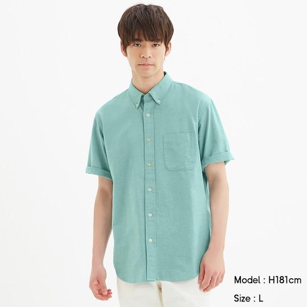 オックスフォードシャツ(半袖)-GREEN