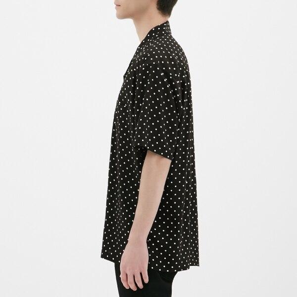 オープンカラーシャツ(半袖)(ドット)