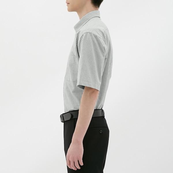 オックスフォードシャツ(半袖)(ストライプ)