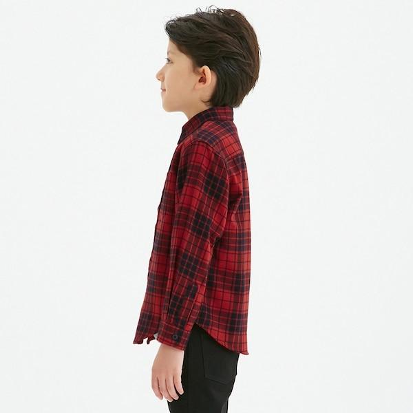 KIDS(男女兼用)フランネルチェックシャツ(長袖)