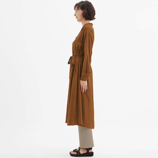 オープンカラーワンピース(長袖)AM